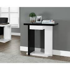 Black console table Modern Monarch Specialties Black And White Console Tablei 2457 The Home Depot The Home Depot Monarch Specialties Black And White Console Tablei 2457 The Home