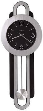 clocks metal grey glass wall clock
