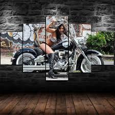 framed motor harley davidson girl 5