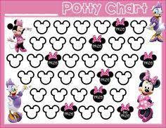 Printable Potty Training Chart Minnie Mouse Potty Training Free Printable Minnie Mouse Daisy Duck