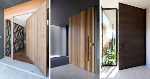 here are 13 inspirational examples of modern wood doors that add major curb appeal and warmth