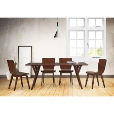 simplicity and clean lines this elsa mid century modern scandinavian style dark walnut bent wood dining set is perfect for your retro dining room