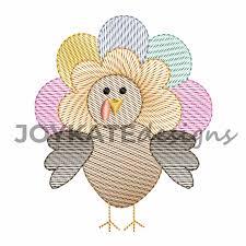 Mini Turkey Embroidery Design Turkey Light Sketch Fill Embroidery Design
