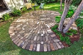 how to make a circular paved area diy