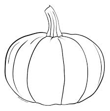 pumpkin drawing. simple pumpkin drawing line art clipartsco