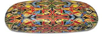 Celtic Pattern Beauteous CGL48 Celtic Pattern Glasses Case Irish Coasters Bilingual Cards