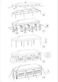 upc 646341983727 garden party gazebo instructions
