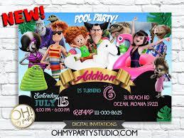 Hotel Transylvania Birthday Party Invitation