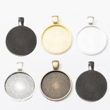 details about pendant base setting bezel trays fit cabochons 25mm diy jewelry making 10pcs lot