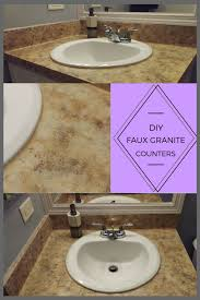 diy faux granite counters after