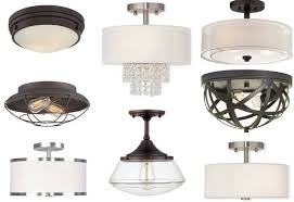 flushmount ceiling lights collage