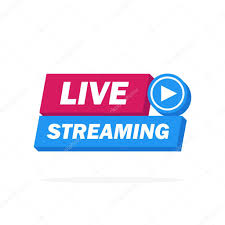✓ Live Streaming Icon, Badge, Emblem for broadcasting or online tv stream.  Vector in material, flat, design style. premium vector in Adobe Illustrator  ai ( .ai ) format, Encapsulated PostScript eps ( .eps ) format