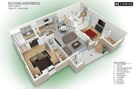 Beautiful D Apartment Design Pictures Daclahepco Daclahepco - Small apartment floor plans 3d