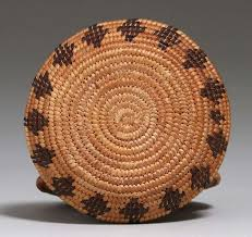 Western Mono/Paiute Tribe Yosemite Valley Ida Bishop Miniature Basket |  California Historical Design