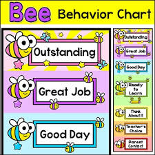 Behavior Chart Bee Theme Classroom Decor