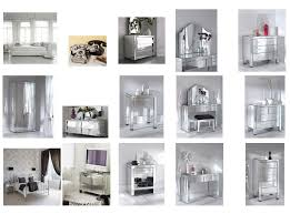 Mirrored Furniture Bedroom Mirrored Furniture Set Sets In Gray Glass Cheap Tamingthesat