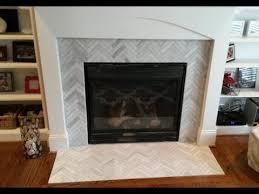 tile fireplace surround regarding makeover 1 x 6 ascend chevron honed tiles you decor 14