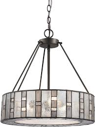 elk 70212 3 ethan modern bronze drum hanging pendant lighting loading zoom
