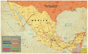 map of mexico cancun riviera maya and mexico city  arminas