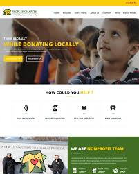 How To Design A Charity Website Professional Conservative Charity Web Design For Peoples