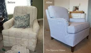 drexel chair before after slipcover