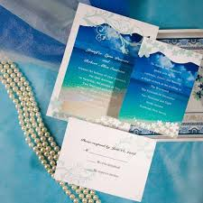 AUS053 beach wedding invitations invitation cards australia on beach wedding invitations au