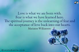 Marianne Williamson Love Quotes Love Is What We Are Born With Fear Is What We Have Learned Here 31