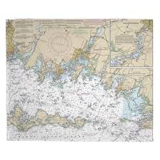 Tide Chart Stonington Ct Ct Noank Mystic Stonington Ct Nautical Chart Blanket