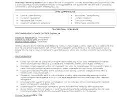 Example Teaching Resumes Resume For Elementary Teacher Emelcotest Com
