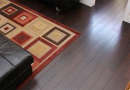 dark tone bamboo flooring in a living room