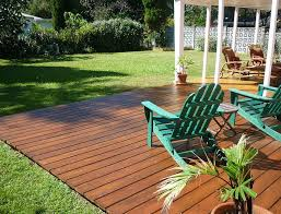 deck over concrete patio flush ground level deck decks how to