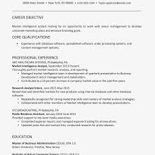 Marketing Experience Resume Marketing Analyst Resume Example