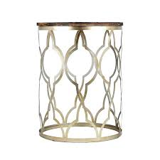 round gold end table gold end table round side tables gray gold with distressed wood top round gold end table