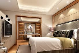 bedroom track lighting. Small Bedroom Design With Comfortable Bed And Gypsum Board Ceiling Using Modern Track Lighting