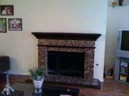 mosaic tile fireplace surround aura metallic glass blend ideas