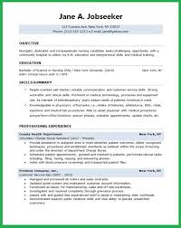 Objective For Resume Nursing