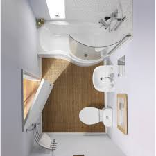 Bathroom:Cool White Small Modern Bathroom Design With Nice Curved Edge  Shape Bathtub Shower Combo
