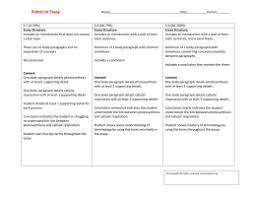 carbon oxygen paragraph essay rubric to essay
