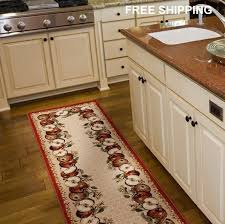 dining room apple area olefin runner rug carpet floor