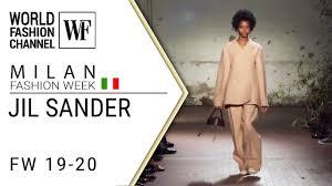 <b>Jil Sander</b> Fall-winter 19-20 Milan <b>fashion</b> week - YouTube