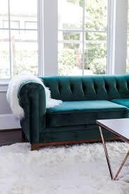 green velvet sofa modern chesterfield