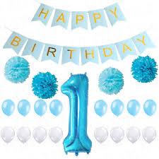 1st birthday banner 1st happy birthday banner diy paper pom flower inflatable baloon