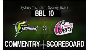 Sydney Thunder vs Sydney Sixers Live ...
