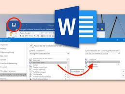 microsoft word icon schneller zugriff speichern unter als word icon einrichten