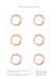 Free Printable Christmas Wreath Gift Tags Christmas Gift
