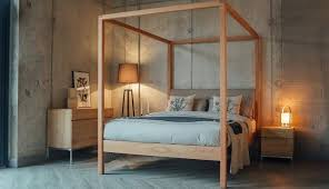 Canopy Bed Frame Full Luxury Set Modern Wood Canopy Full Gold Daybed ...