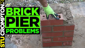 how not to build a brick pier bricklaying tutorial