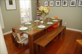 chic dining room furniture vinyl curved pedestal high top reclaimed wood table with bench seating dark