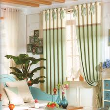 Light Green Color Country Window Curtains