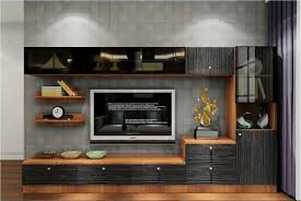 Gray TV wall and custom TV cabinet